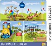 vector amusement park... | Shutterstock .eps vector #58011319