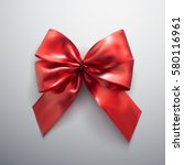 red bow and ribbons. vector... | Shutterstock .eps vector #580116961