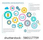 modern vector infographic... | Shutterstock .eps vector #580117759