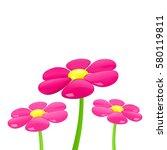 flower. vector illustration. | Shutterstock .eps vector #580119811