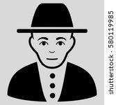 jew glyph icon. flat black... | Shutterstock . vector #580119985