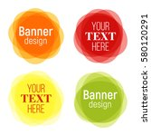 set of vector colorful round... | Shutterstock .eps vector #580120291