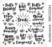 vector set of hand drawn... | Shutterstock .eps vector #580123261