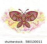 art of a butterfly. romantic... | Shutterstock .eps vector #580130011