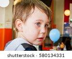 Cute Unhappy Caucasian 4 Year...