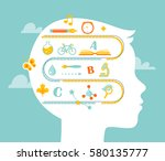 school and education concept.... | Shutterstock .eps vector #580135777