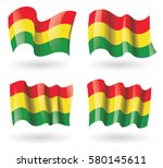 bolivia flag waving set | Shutterstock .eps vector #580145611