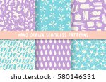set of six bright stylish...   Shutterstock .eps vector #580146331