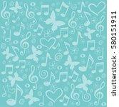 seamless pattern wallpaper of... | Shutterstock .eps vector #580151911