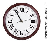 five to eleven on a round clock | Shutterstock . vector #580151917
