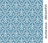 seamless pattern inspired by... | Shutterstock .eps vector #580164955