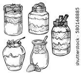 sketch ink hand drawn doodle... | Shutterstock .eps vector #580168885