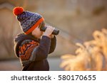 cute little child  boy ... | Shutterstock . vector #580170655