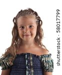 cute little girl with pigtail... | Shutterstock . vector #58017799
