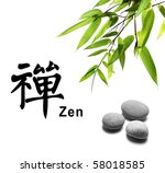 Bamboo Leafs And Zen Stones...