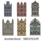 amsterdam. old historic... | Shutterstock .eps vector #580193149