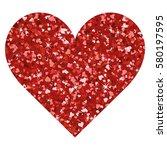 glitter valentines day love... | Shutterstock .eps vector #580197595