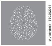 neuron electric human brain... | Shutterstock .eps vector #580202089