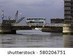 double decker bus crossing the... | Shutterstock . vector #580206751