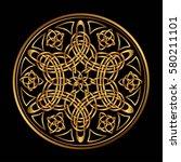 golden ancient pagan...   Shutterstock .eps vector #580211101