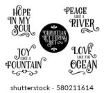christian gospel lyrics phrases ... | Shutterstock .eps vector #580211614