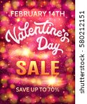 valentines day sale poster... | Shutterstock .eps vector #580212151