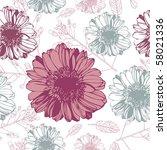 gerbera vintage | Shutterstock .eps vector #58021336