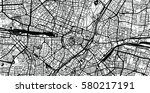 vector city map of munich ... | Shutterstock .eps vector #580217191