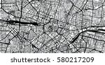 vector city map of munich ... | Shutterstock .eps vector #580217209