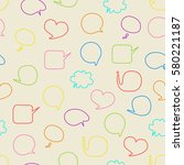 speech bubbles seamless pattern | Shutterstock .eps vector #580221187