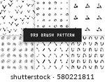 set hand drawn grunge pattern...   Shutterstock .eps vector #580221811