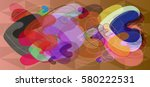valentine icon background | Shutterstock .eps vector #580222531