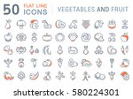 set  line icons in flat design... | Shutterstock . vector #580224301