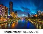 city of melbourne. cityscape... | Shutterstock . vector #580227241