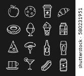 food chalkboard vector hand... | Shutterstock .eps vector #580231951