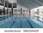 interior of a swimming pool | Shutterstock . vector #580234429