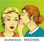 pop art retro comic... | Shutterstock . vector #580235581