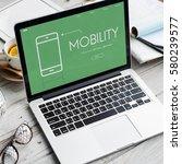 mobility modern technology ... | Shutterstock . vector #580239577