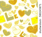 abstract background in yellow... | Shutterstock .eps vector #580245871