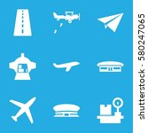 airplane vector icons. set of 9 ... | Shutterstock .eps vector #580247065