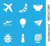 fly vector icons. set of 9 fly... | Shutterstock .eps vector #580247389