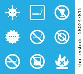 prohibition vector icons. set... | Shutterstock .eps vector #580247815