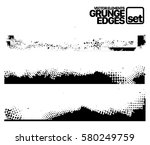 set of grunge and ink stroke... | Shutterstock .eps vector #580249759