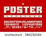 heavy typeface. uppercase... | Shutterstock .eps vector #580250284
