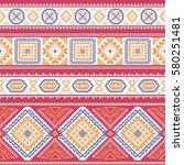 ethnic seamless pattern. aztec...   Shutterstock .eps vector #580251481