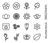 Floral Vector Icons. Set Of 16...