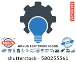 smooth blue bulb configuration... | Shutterstock .eps vector #580255561