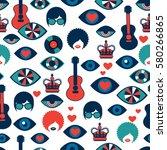 trendy vector seamless british... | Shutterstock .eps vector #580266865