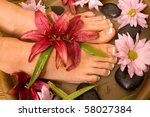 footcare and pampering at the... | Shutterstock . vector #58027384