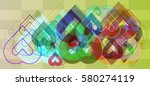 valentine idea elements | Shutterstock .eps vector #580274119